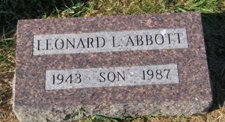 ABBOTT, LEONARD L - Lincoln County, South Dakota | LEONARD L ABBOTT - South Dakota Gravestone Photos