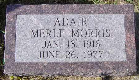 ADAIR, MERLE MORRIS - Lincoln County, South Dakota | MERLE MORRIS ADAIR - South Dakota Gravestone Photos