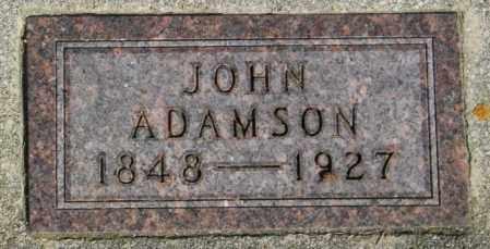 ADAMSON, JOHN - Lincoln County, South Dakota | JOHN ADAMSON - South Dakota Gravestone Photos