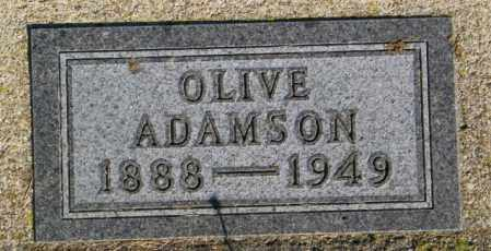 ADAMSON, OLIVE - Lincoln County, South Dakota | OLIVE ADAMSON - South Dakota Gravestone Photos