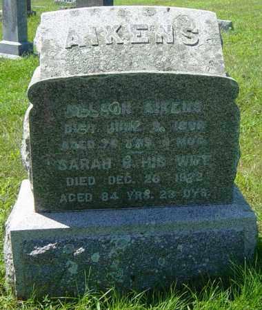 AIKENS, SARAH B - Lincoln County, South Dakota   SARAH B AIKENS - South Dakota Gravestone Photos