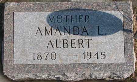 ALBERT, AMANDA L. - Lincoln County, South Dakota   AMANDA L. ALBERT - South Dakota Gravestone Photos