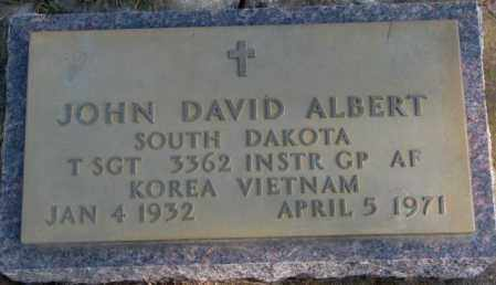 ALBERT, JOHN DAVID (MILITARY) - Lincoln County, South Dakota | JOHN DAVID (MILITARY) ALBERT - South Dakota Gravestone Photos