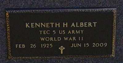 ALBERT MILITARY, KENNETH H - Lincoln County, South Dakota   KENNETH H ALBERT MILITARY - South Dakota Gravestone Photos