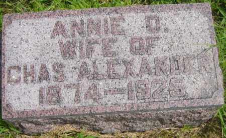 ALEXANDER, ANNIE D - Lincoln County, South Dakota | ANNIE D ALEXANDER - South Dakota Gravestone Photos