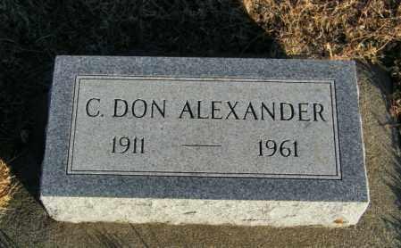 ALEXANDER, C DON - Lincoln County, South Dakota | C DON ALEXANDER - South Dakota Gravestone Photos