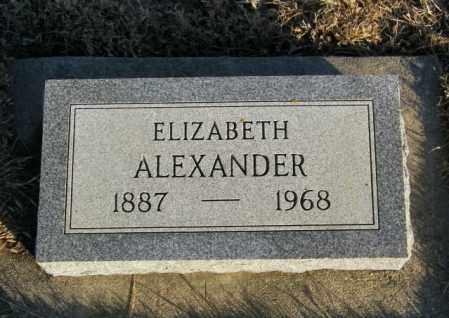 ALEXANDER, ELIZABETH - Lincoln County, South Dakota | ELIZABETH ALEXANDER - South Dakota Gravestone Photos