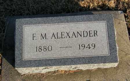 ALEXANDER, F M - Lincoln County, South Dakota | F M ALEXANDER - South Dakota Gravestone Photos