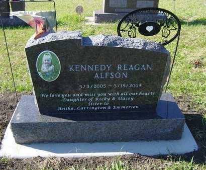 ALFSON, KENNEDY REAGAN - Lincoln County, South Dakota | KENNEDY REAGAN ALFSON - South Dakota Gravestone Photos
