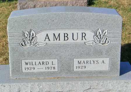 AMBUR, WILLARD L - Lincoln County, South Dakota | WILLARD L AMBUR - South Dakota Gravestone Photos