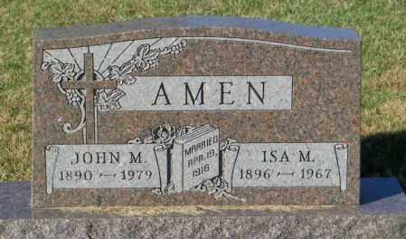 AMEN, ISA M - Lincoln County, South Dakota | ISA M AMEN - South Dakota Gravestone Photos