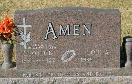 AMEN, LLOYD E - Lincoln County, South Dakota | LLOYD E AMEN - South Dakota Gravestone Photos