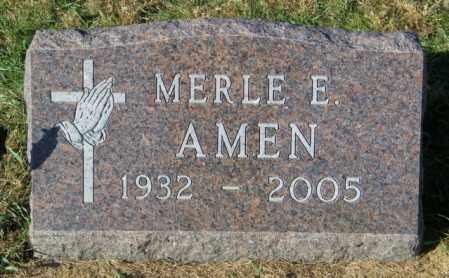 AMEN, MERLE E - Lincoln County, South Dakota | MERLE E AMEN - South Dakota Gravestone Photos