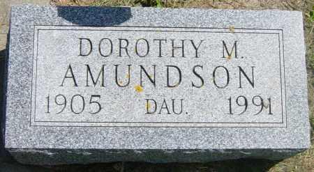 AMUNDSON, DOROTHY M - Lincoln County, South Dakota | DOROTHY M AMUNDSON - South Dakota Gravestone Photos