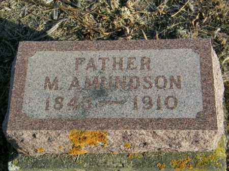 AMUNDSON, M - Lincoln County, South Dakota   M AMUNDSON - South Dakota Gravestone Photos