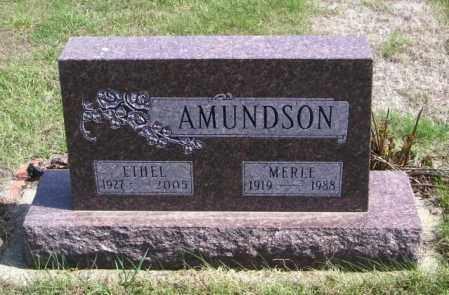 AMUNDSON, MERLE - Lincoln County, South Dakota | MERLE AMUNDSON - South Dakota Gravestone Photos