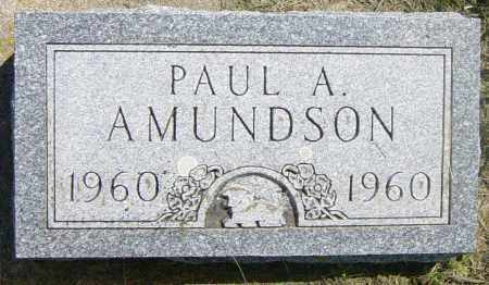 AMUNDSON, PAUL A - Lincoln County, South Dakota | PAUL A AMUNDSON - South Dakota Gravestone Photos