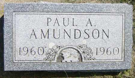 AMUNDSON, PAUL A - Lincoln County, South Dakota | PAUL A AMUNDSON - South Dakota Gravestone Photos