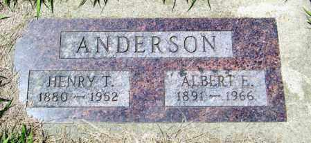 ANDERSON, HENRY T - Lincoln County, South Dakota | HENRY T ANDERSON - South Dakota Gravestone Photos