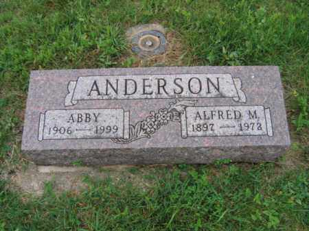 ANDERSON, ALFRED MAGNI - Lincoln County, South Dakota | ALFRED MAGNI ANDERSON - South Dakota Gravestone Photos