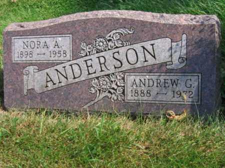 ANDERSON, NORA A - Lincoln County, South Dakota   NORA A ANDERSON - South Dakota Gravestone Photos
