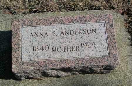 ANDERSON, ANNA S - Lincoln County, South Dakota   ANNA S ANDERSON - South Dakota Gravestone Photos