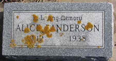 ANDERSON, ALICE L. - Lincoln County, South Dakota | ALICE L. ANDERSON - South Dakota Gravestone Photos