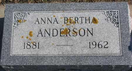 ANDERSON, ANNA BERTHA - Lincoln County, South Dakota | ANNA BERTHA ANDERSON - South Dakota Gravestone Photos