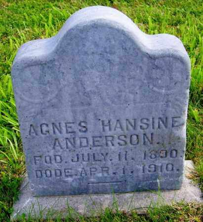 ANDERSON, AGNES HANSINE - Lincoln County, South Dakota | AGNES HANSINE ANDERSON - South Dakota Gravestone Photos