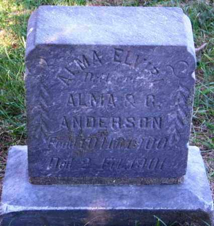 ANDERSON, ALMA ELVIRA - Lincoln County, South Dakota | ALMA ELVIRA ANDERSON - South Dakota Gravestone Photos