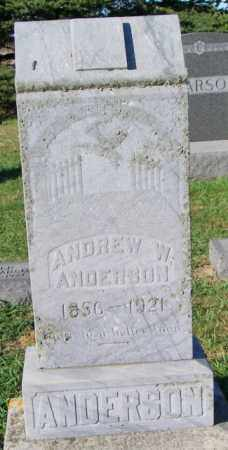 ANDERSON, ANDREW W. - Lincoln County, South Dakota | ANDREW W. ANDERSON - South Dakota Gravestone Photos