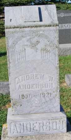 ANDERSON, ANDREW W. - Lincoln County, South Dakota | ANDREW W. ANDERSON - South Dakota Gravestone Photos
