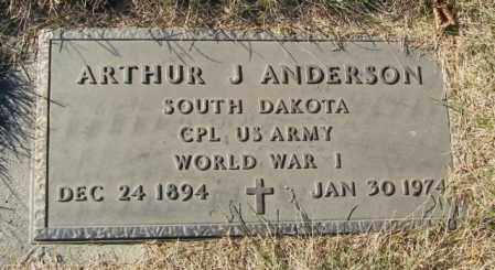 ANDERSON, ARTHUR J - Lincoln County, South Dakota | ARTHUR J ANDERSON - South Dakota Gravestone Photos