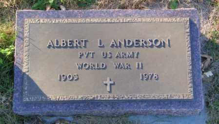 ANDERSON, ALBERT L. - Lincoln County, South Dakota | ALBERT L. ANDERSON - South Dakota Gravestone Photos