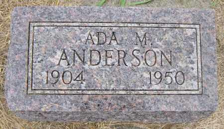 ANDERSON, ADA M - Lincoln County, South Dakota   ADA M ANDERSON - South Dakota Gravestone Photos