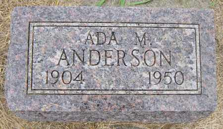 ANDERSON, ADA M - Lincoln County, South Dakota | ADA M ANDERSON - South Dakota Gravestone Photos