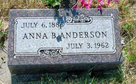 ANDERSON, ANNA B - Lincoln County, South Dakota | ANNA B ANDERSON - South Dakota Gravestone Photos