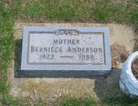 ANDERSON, BERNICE - Lincoln County, South Dakota   BERNICE ANDERSON - South Dakota Gravestone Photos
