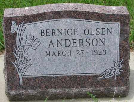 OLSEN ANDERSON, BERNICE - Lincoln County, South Dakota | BERNICE OLSEN ANDERSON - South Dakota Gravestone Photos