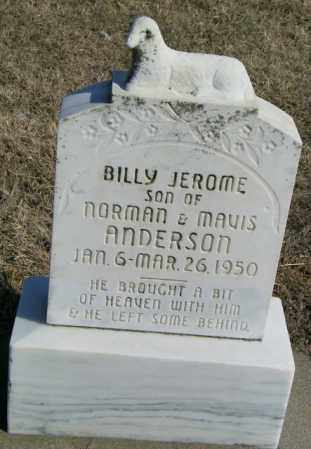 ANDERSON, BILLY JEROME - Lincoln County, South Dakota | BILLY JEROME ANDERSON - South Dakota Gravestone Photos