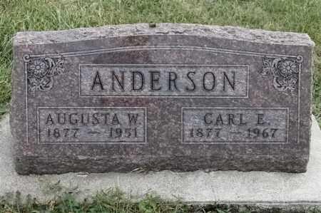 ANDERSON, AUGUSTA W - Lincoln County, South Dakota | AUGUSTA W ANDERSON - South Dakota Gravestone Photos