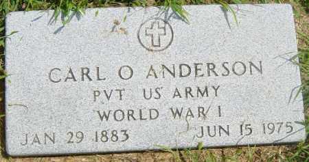 ANDERSON, CARL O - Lincoln County, South Dakota | CARL O ANDERSON - South Dakota Gravestone Photos