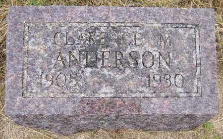 ANDERSON, CLARENCE M - Lincoln County, South Dakota | CLARENCE M ANDERSON - South Dakota Gravestone Photos