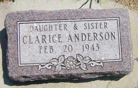 ANDERSON, CLARICE - Lincoln County, South Dakota | CLARICE ANDERSON - South Dakota Gravestone Photos