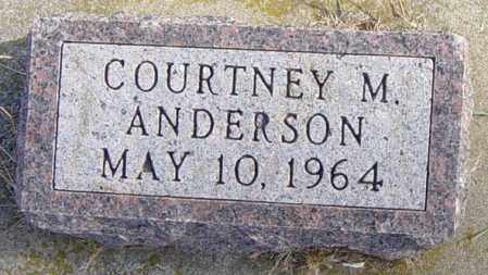 ANDERSON, COURTNEY M - Lincoln County, South Dakota | COURTNEY M ANDERSON - South Dakota Gravestone Photos