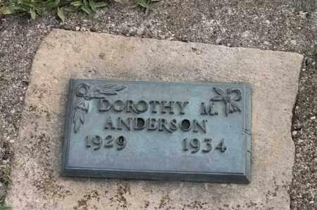 ANDERSON, DOROTHY M - Lincoln County, South Dakota | DOROTHY M ANDERSON - South Dakota Gravestone Photos