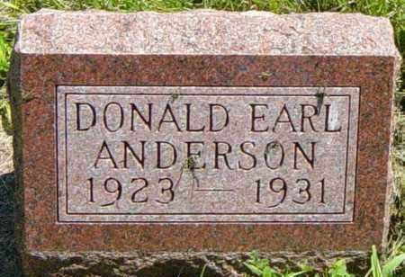 ANDERSON, DONALD EARL - Lincoln County, South Dakota | DONALD EARL ANDERSON - South Dakota Gravestone Photos