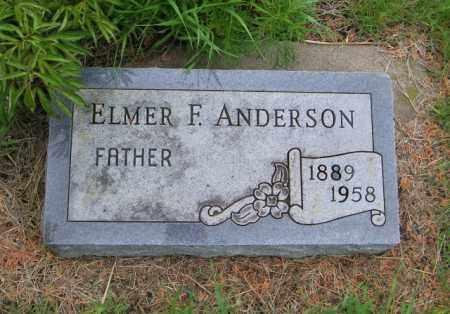 ANDERSON, ELMER F - Lincoln County, South Dakota   ELMER F ANDERSON - South Dakota Gravestone Photos