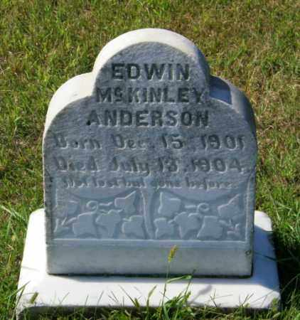 ANDERSON, EDWIN MCKINLEY - Lincoln County, South Dakota | EDWIN MCKINLEY ANDERSON - South Dakota Gravestone Photos