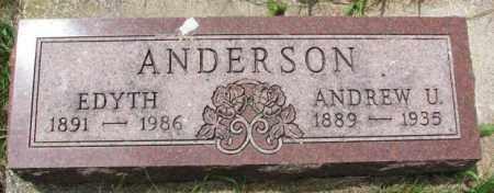 ANDERSON, ANDREW U. - Lincoln County, South Dakota | ANDREW U. ANDERSON - South Dakota Gravestone Photos